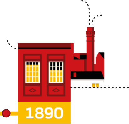 1890. Mahou opens its first factory on Amaniel Street