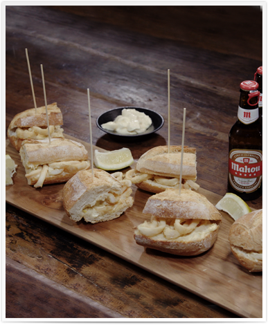 Recipe of the best Spanish Calamari Sandwiches